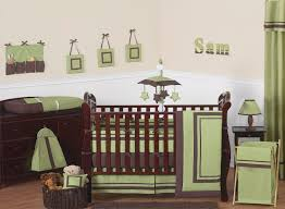 green and brown hotel modern baby bedding 9 pc crib set only 189 99