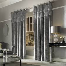Glitter Curtains Ready Made Buy Minogue Designer Veda Crushed Velvet Lined Ready Made