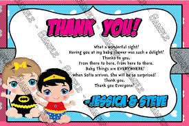 thank you card for baby shower novel concept designs baby comic book baby girl baby