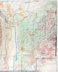Guadalupe Mexico Map by Trail Map Of Guadalupe Mountains National Park Texas 203