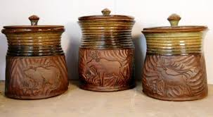 ceramic kitchen canister set fish ceramic kitchen canister set with wooden lids choosing the