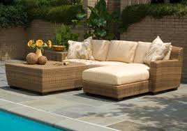 patio garden natural wicker sectional sofa like round black