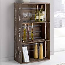 regal kisten d i y crate wine case rustic organization pinterest diy