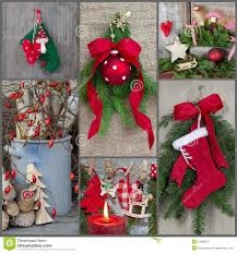 classic christmas decoration country style with red green wood