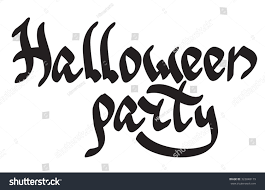 halloween party lettering gothiclike style vector stock vector