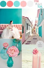 color story pink loves teal the perfect palette