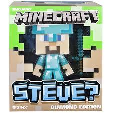 diamond steve minecraft 6 vinyl diamond steve figure walmart