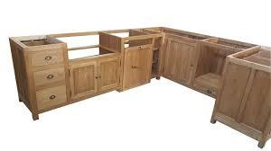 cuisine bois brut meuble de cuisine bois massif 3 porte meubles rangement systembase co