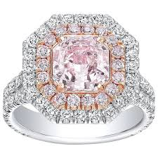 light pink engagement rings tamir gia certified 1 92 carat light pink two color gold