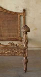 Eloquence One Of A Kind Vintage French Gilt Cane Louis Xvi Style Twin Bed Pair Eloquence Antique Bed Eloquence I Beds Pinterest Antique