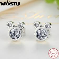 original earrings hot selling 100 925 sterling silver dazzling mouse stud