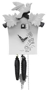 forest cuckoo clock modern white 1day movement with cuckoo