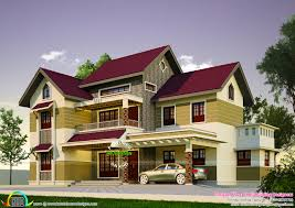 2200 sq ft 4 bedroom sloping roof house kerala home design and