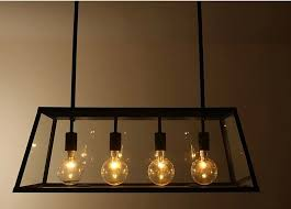 Light Bulbs For Pendant Lights Rh Metal Glass Box Shape Edison Bulbs Pendant Lighting Modern