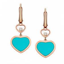turquoise drop earrings chopard happy hearts diamond turquoise drop earrings