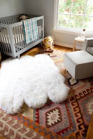 Modern Nursery Rugs Gray Boys Nursery With Layered Rugs Contemporary Nursery