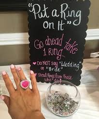 what do you put on a bridal shower registry put a ring on it bridal shower emmalovesweddings