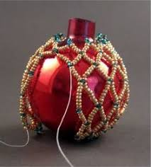 easy netted ornament from rubysbeadwork a simple bead net