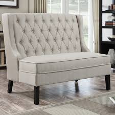upholstered bench with back dining bench decoration