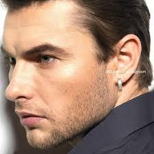 hoop earrings for men men s hoop earrings achromatic edge hoop