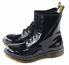 womens boots size 11 uk navy dr martens dr martens womens 1460 8 eye black patent ler