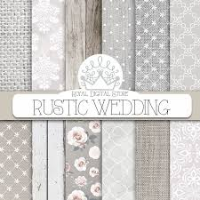 rustic wedding scrapbook wedding digital paper rustic wedding with white