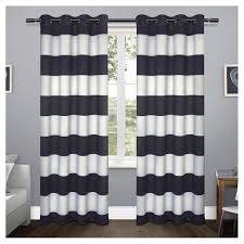 Rugby Stripe Curtains Rugby Stripe Sateen Room Darkening Curtain Panel Set Exclusive