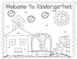 kindergarten coloring worksheets worksheets