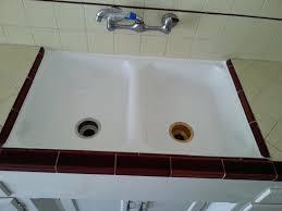 reglaze cast iron sink reglaze sink orange county reglazing kitchen cost black porcelain