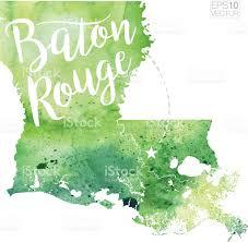 map usa louisiana baton louisiana usa vector watercolor map stock vector