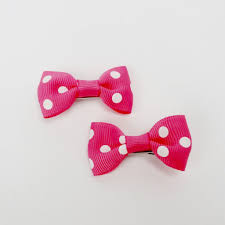 ribbon hair bow set of 2 small cross grain ribbon hair bow 1 75