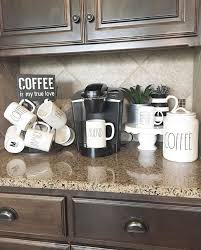 coffee kitchen decor ideas best 25 home coffee stations ideas on home coffee