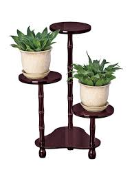 plant stand wooden plant holder tall modern mahogany planter