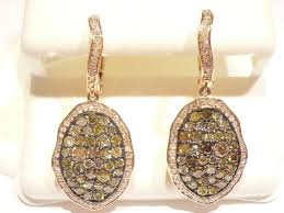 s gold earrings multi fancy color chagne diamond earrings in gold touch