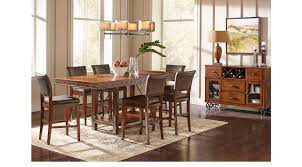 Counter Height Dining Room Chairs Hook Pecan Grayish Brown 5 Pc Counter Height Dining Room
