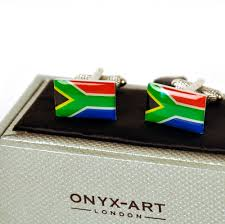 African Flag Cufflinks South Africa South African Flag Suid Afrikaanse