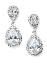 best earrings selling cz bridal teardrop earring jacqui