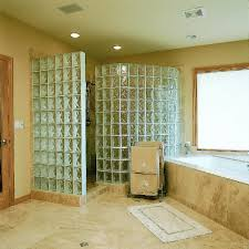 Showers Without Glass Doors Bathroom Fascinating Bathroom Design With Glass Wall Walk In