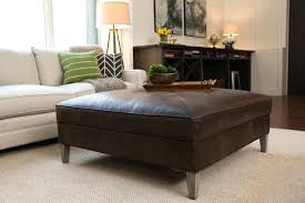 black leather ottoman bed frame faux storage bench with tray