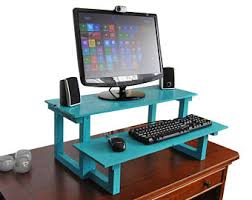 Desktop Computer Desk Standing Desk Etsy