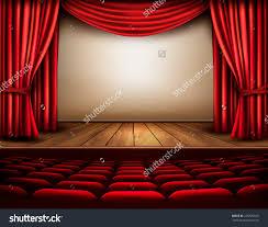 home theater curtain cinema theater scene curtain vector stock vector 226725049