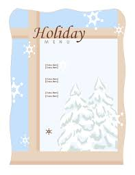 simple menu template free menus office