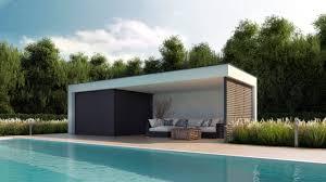 Pool House Garage Pods U0026 Poolhouse Indabox Studio Images U0026 Animations 3d Pour L