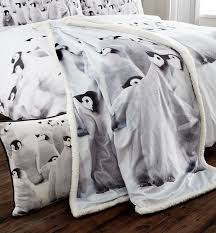 catherine lansfield penguins colony king bed duvet set amazon co