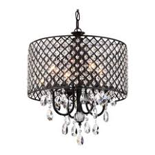 Small Black Chandelier Chandeliers With A Black Shade Houzz