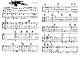 brenda lee rockin u0027 around the christmas tree piano vocal music