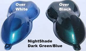 green blue candy paint pearl nightshade pearl and pigments