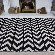 Black And White Zig Zag Rug Zig Zag Rug Ebay