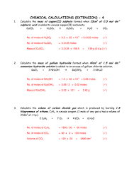 mole and volume calculations worksheets with answers by