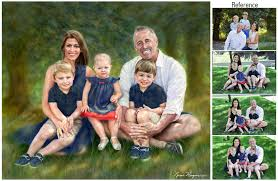 Family Portrait Family Portrait Painting Watercolor Portrait Painting Portraits